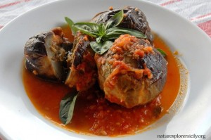 stuffed aubergines - local recipe